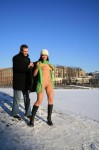 005 99x150 Nude girl in the snow with awesome green scarf
