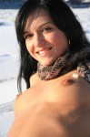 dark hair nude snow 18 99x150 Dark Haired Beauty in the snow