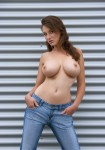 big top girl with sheet metal 1 105x150 Busty Girl In Jeans Presses sheet metal