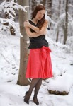 red snow girl 1 103x150 red skirt snow girl