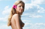 nude girl with pink flower power 4 150x97 girl with pink power flower