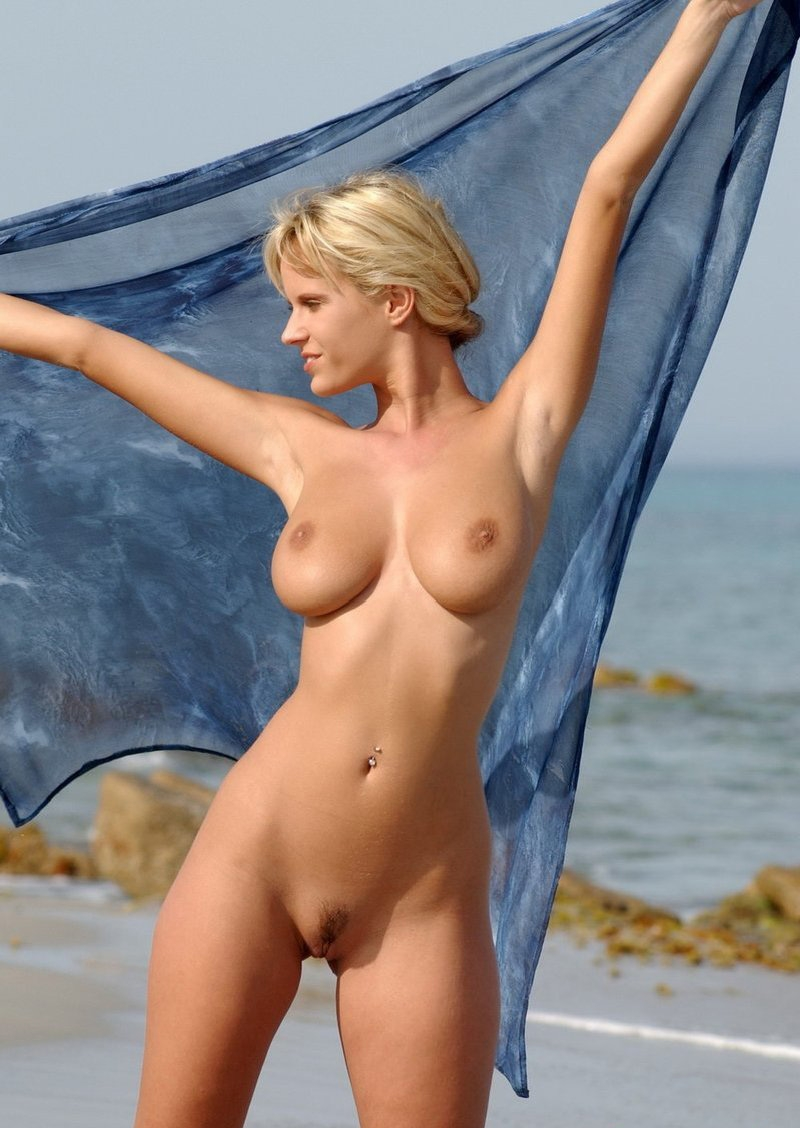 Nude blondes on the beach