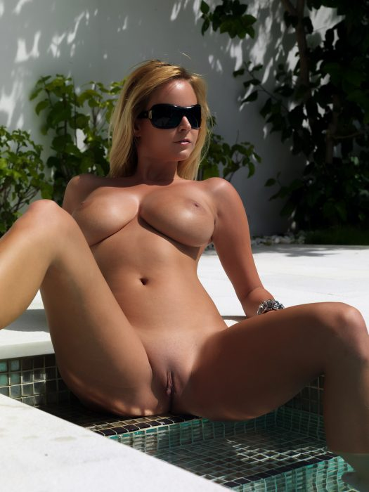 Busty in the pool 525x700 Busty in the pool