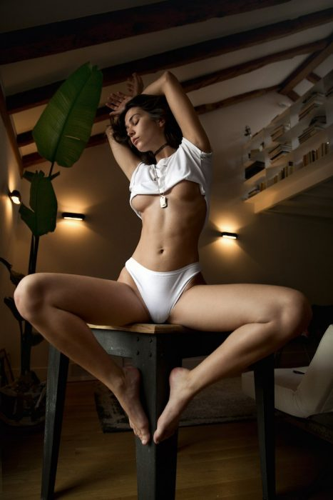 Sittin on a table in white sexy panties 467x700 Sittin on a table in white sexy panties