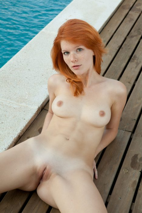 Mia Sollis by a pool 467x700 Mia Sollis by a pool